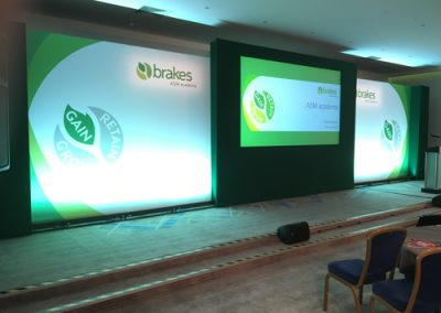 brakes corporate event stage